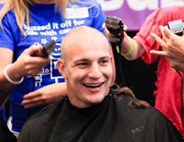 Gronk Getting Shaved