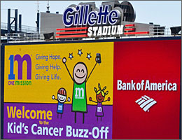 Gillette Stadium Video Billboard