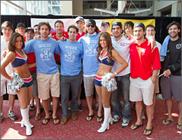 Buzzees with New England Patriots Cheerleaders