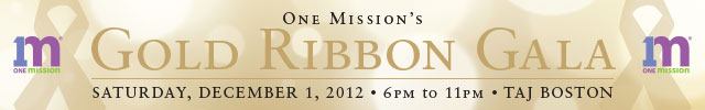 One Mission Gold Ribbon Gala
